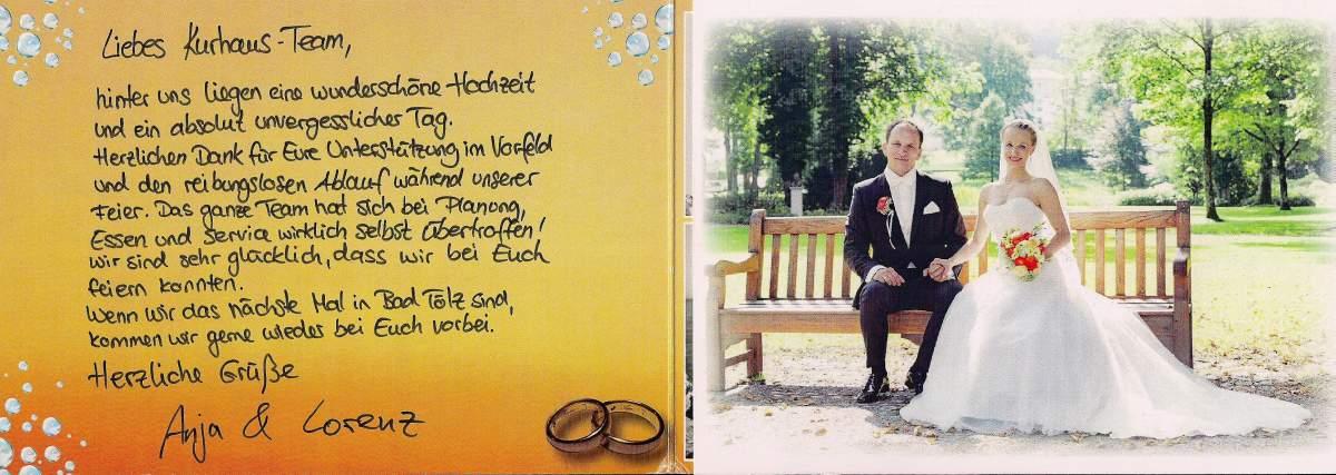 Hochzeit Referenzen - Anja & Lorenz