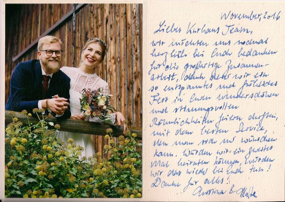Hochzeit Referenzen - Christina & Malte