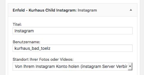 Username setting